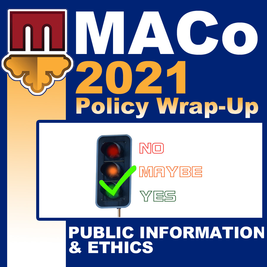 2021 End of Session Wrap-Up: Public Information & Ethics
