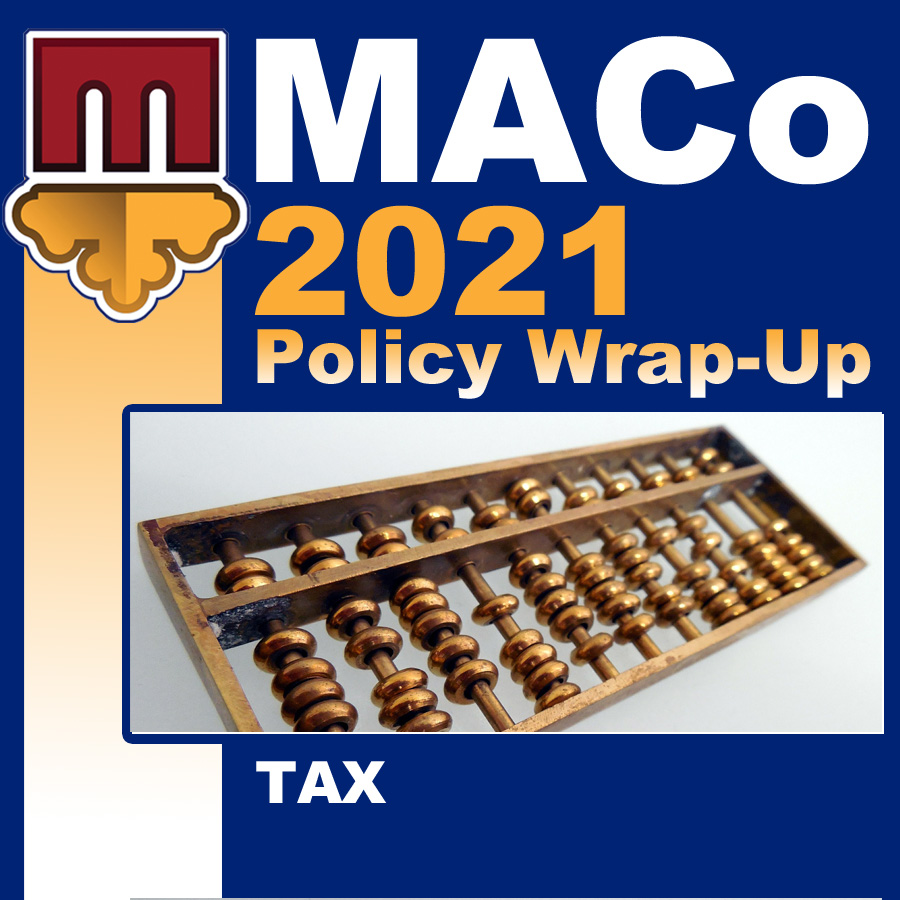 2021 End of Session Wrap-Up: Taxes and Revenues