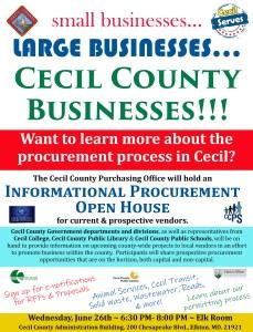 Cecil to Host Procurement Expo