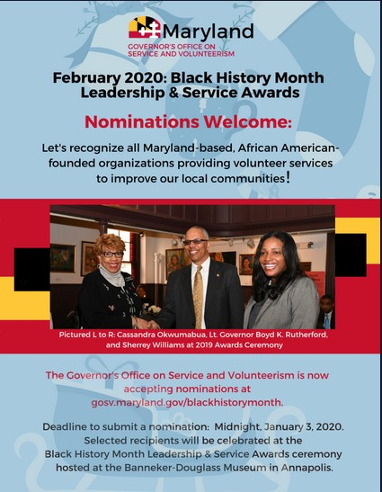 Nominations Open for 2020 Black History Month Leadership & Service Awards