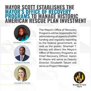 Mayor Scott Establishes Office to Manage Historic ARPA Investment