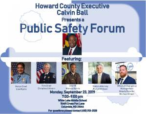 Howard to Host Public Safety Forum