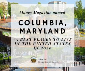 """Columbia Ranks Fifth in Money Magazine's """"Best Places to Live"""""""