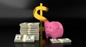 Money Dollar Sign Piggy Bank