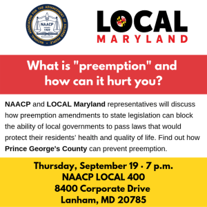 Preemption Town Hall Set For September 19th