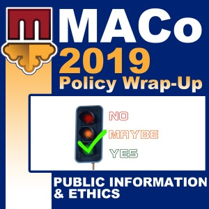 2019 End of Session Wrap-Up: Public Information & Ethics