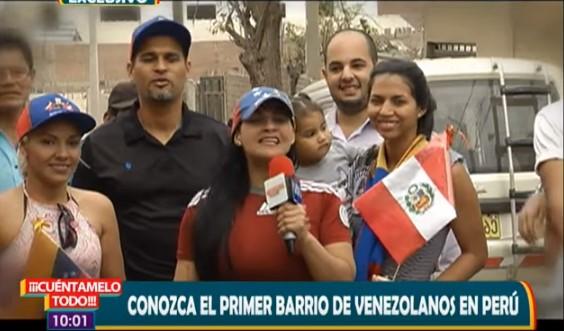 Conoce el primer barrio de venezolanos en Perú