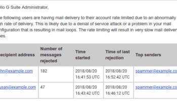 Gmail e-mail alerta