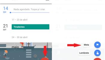 Adicionar metas no google agenda
