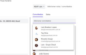adicione convidados aos eventos da Agenda Google