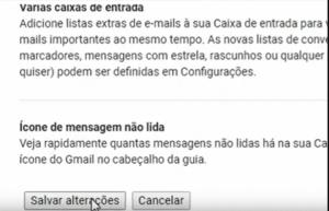 Salve Painel de visualização do Gmail