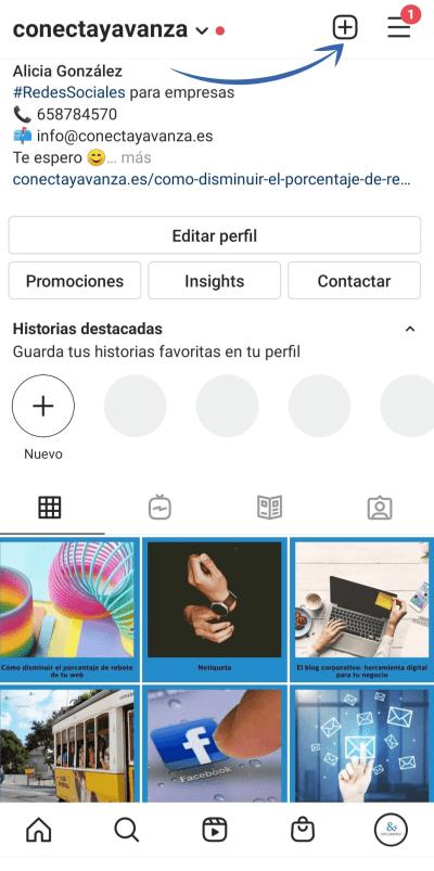 guia instagram - conecta y avanza