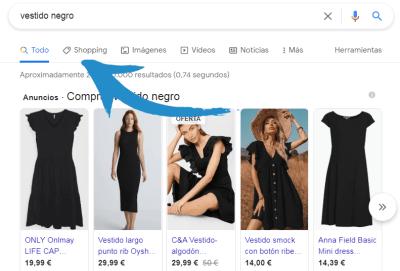 google shopping - conecta y avanza