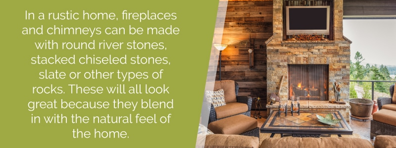 log cabin interior design fireplace