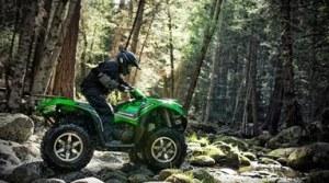 ATVs at the cabin - rock climbing