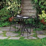 outdoor living - Cabin flagstone platform