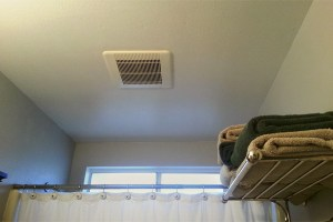 mildew prevention - Shower exhaust fan