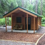 Fly Trap log cabin kit at Carolina Beach State Park by Conestoga