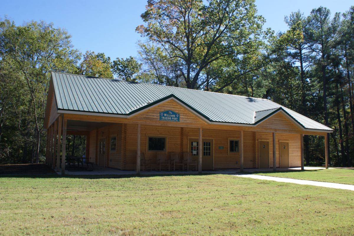 Lincoln commercial log cabin kit exterior view