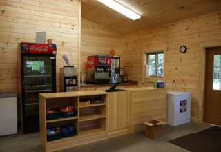 Lincoln commercial log cabin kit interior store