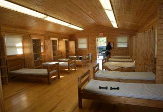 log cabin bunk room interior