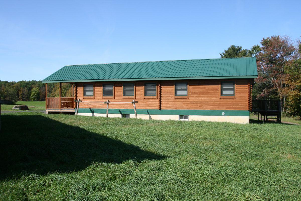 multipurpose log cabin exterior