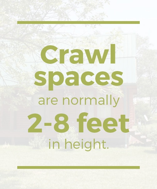 log cabin foundation crawl spaces are normally 2-8 feet in height