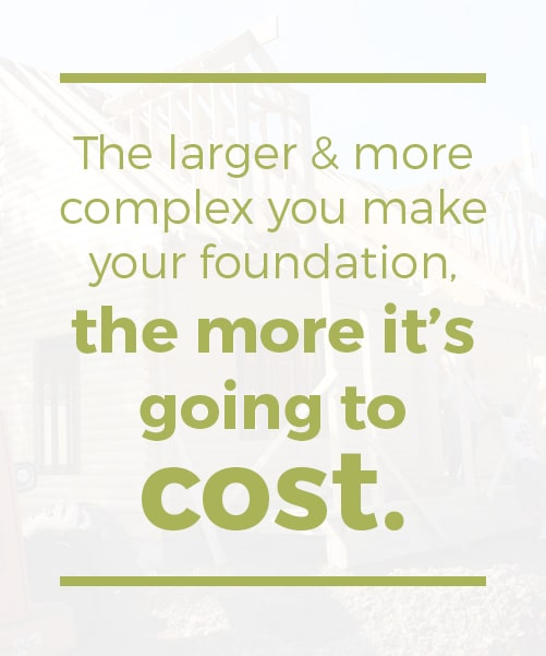 the larger and more complex you make the log cabin foundation the more it is going to cost