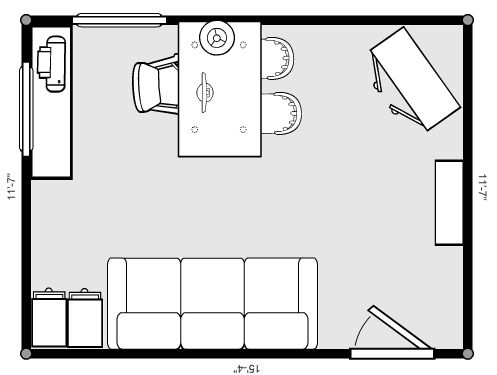 log cabin loft office floorplan