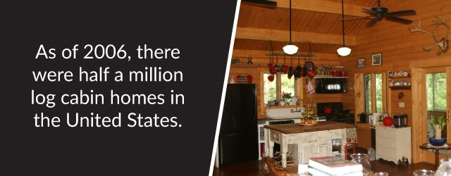 As if 2006 there were half a million log homes in the US