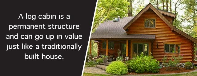 park models - log cabin is valued higher