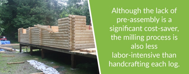 difference between handcrafted and milled logs