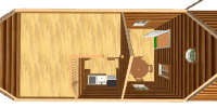 log cabin kit floor plan - heritage
