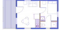 log cabin kit floorplan - serenity