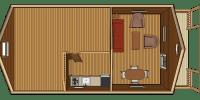 log cabin kit floorplan - vacationer