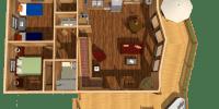 log home kits floor plan - alpine ridge