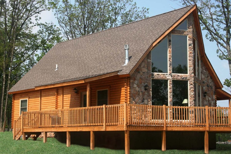 log home kits - alpine ridge