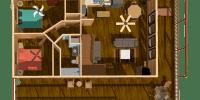 log home kits floor plan - aspen chalet