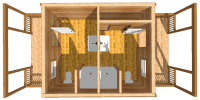 bathhouse log cabin kits - durango bathhouse