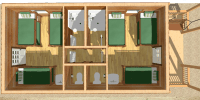 bunkhouse log cabin kits - elk lodge