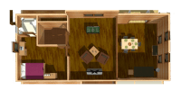 log home kits floor plan - mckinley