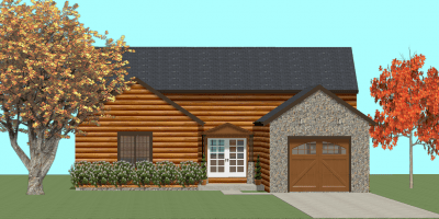 log home kits - mckinley