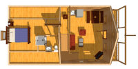 log home kits floor plan - mountain haven