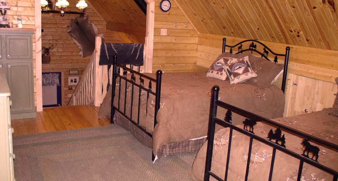 camping cabin loft