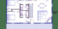 log home kits floor plan - sequoia