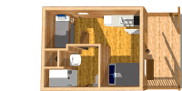 log cabin kits floor plan - spearfish