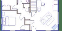 log home kits floor plan - Susquehanna