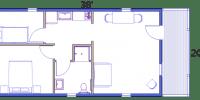 ada camping cabins floor plan