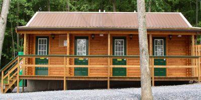 log cabin kits bathhouses - twin grove