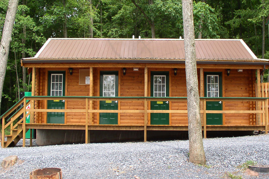 log cabin kits bathhouses - twin grove